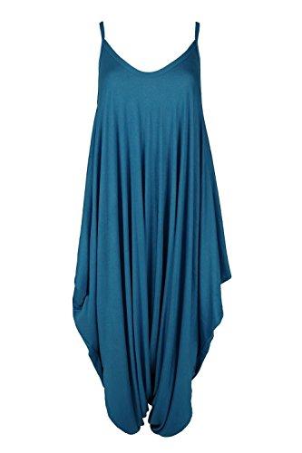 FASHION REVIEW Damen Jumpsuit Beige beige One size Gr. UK Medium/Large, blaugrün