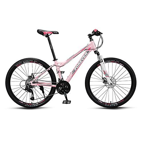 Bicicleta de Montaña para Cross-Country, Bicicleta de Carretera, Ruedas de 26 Pulgadas, 27 Velocidades, Cuadro de AleacióN de Aluminio, Freno de Disco de LíNea Y Bicicleta con Doble AmortiguacióN