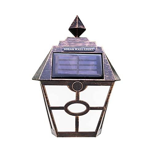 YMLSD Lámparas de Pared, Luces Solares, Luces de Jardín con Energía Solar, Luz de Pared Exterior Impermeable P65, Fácil de Instalar para Terraza, Valla, Patio, Puerta de Entrada, Escalera