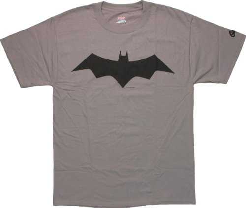 ThinkGeek Batman Animated Logo T-Shirt X-Large Gray