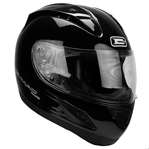 G-MAC Glide Evo Casque de moto /à rabat Noir satin/é