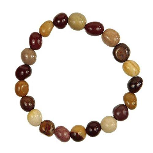 Naturosphère-Joyas naturales-Pulsera de perlas brillantes jaspe mokaite-liados