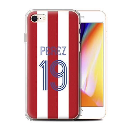Stuff4 Telefoonhoesje/Cover/Skin/IP-GC/Aangepaste Euro Football Club Shirt Kit Collectie Apple iPhone SE 2020 Rode witte strepen