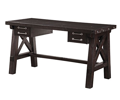 Modus Furniture Yosemite Solid Wood Desk, Café
