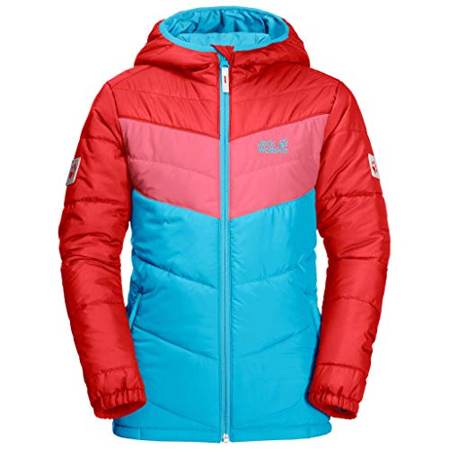 Jack Wolfskin Kinder THREE HILLS JACKET KIDS Winddichte Winterjacke, Atoll Blue, 128