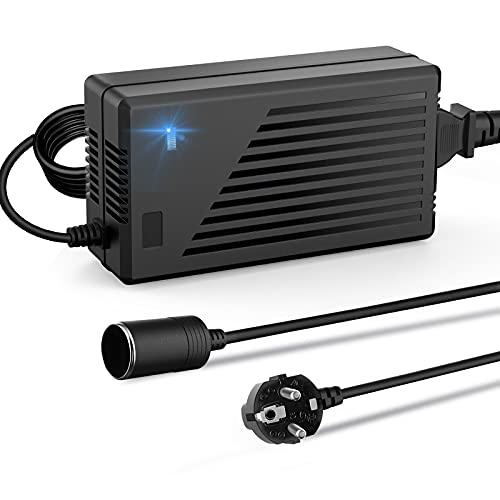 RGBER Spannungswandler 230v auf 12v (180W mit Umluftkühlung), KFZ-Netzteil 12V 15A mit Zigarettenanzünder Buchse,12V 15A AC-DC Spannungswandler, Wechselrichter 220 auf 12 Volt