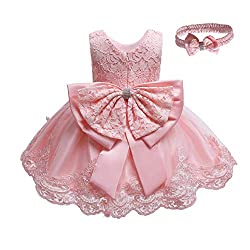 Pink-B Color Tutu Dress With Rhinestones for Baby