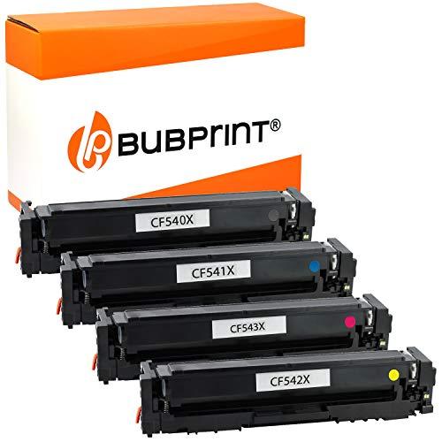 Bubprint Kompatibel Toner als Ersatz für HP Color LaserJet Pro M254dw M254nw M254dnw MFP M280nw M281fdw M281fw für 203X 203A CF540X CF541X CF542X CF543X (4er-Pack)