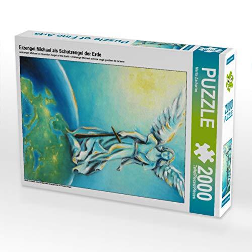 CALVENDO Puzzle Erzengel Michael als Schutzengel der Erde 2000 Teile Lege-Größe 67 x 90 cm Foto-Puzzle Bild von Marita Zacharias
