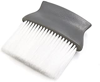 eDealMax Mango de plástico gris Peluquería Salón de Cuello plumero cepillo de Pelo de la herramienta