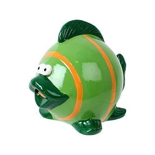 TE-Trend Kinder Sparbüchse Spardose Fisch Keramik Sparschwein in dekorativem Design 11 cm lang