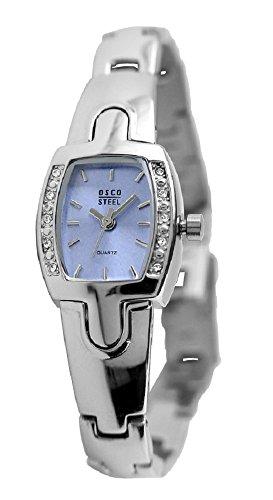 OSCO Steel Edelstahl Damen-Armbanduhr 4351 (Silber/blau)