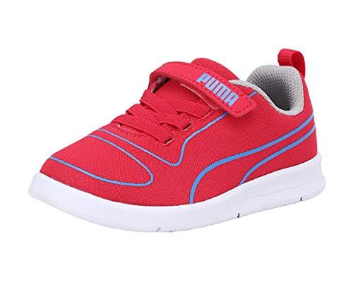 PUMA Unisex Kid's Kali V PS Nrgy Rose-Ultramarine-Gray VIO Pink-Blue-Grey-White Sneakers-13 UK (36779610)