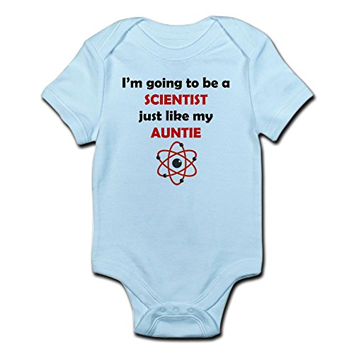 CafePress Scientist Like My Auntie Body Suit Cute Infant Bodysuit Baby Romper