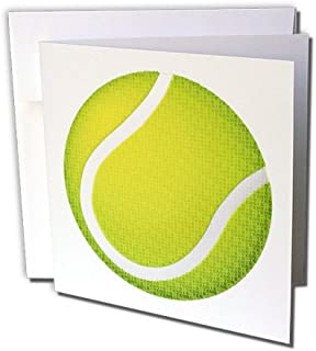3dRose Tennis Typed Text Background Greeting Cards, 6
