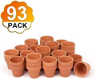 "BLQH [93 Pack] 2"" Small Mini Clay Pots Planter Nursery Pots Terra Cotta Pot Clay Ceramic Pottery Planter Flower Pots Lawn & Garden Terracotta Pots Succulent Nursery Pots with Drainage Hole (93)"