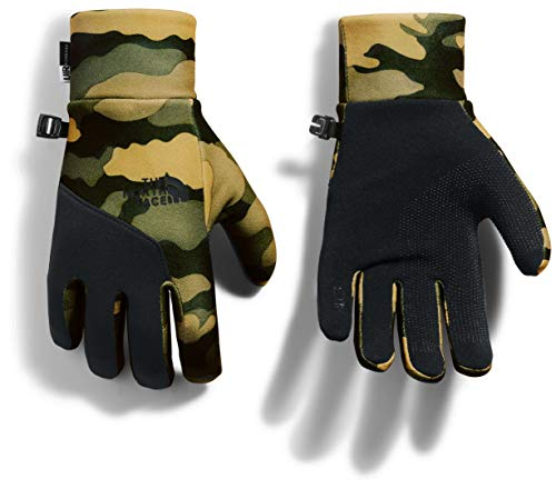 The North Face Women's Etip Glove, Burnt Olive Green Woods Camo Print, M