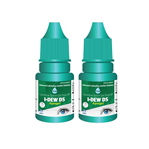 I-Dew DS Night-Time Aquagel Eye Drops for Dry Eyes, Eye Drops for Contact Lens Users and Red Eyes DUO PACK