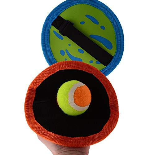 Smart Planet® Klettballspiel für Kinder Klettballset - 2 Fangscheiben mit Klettband Klettball Spiel Beachball Strandspiel Fangscheibe Ø ca. 19 cm