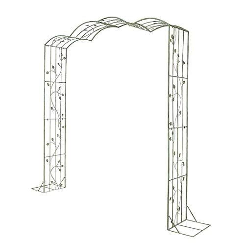 QLLL Iron Art Garden Arch for, Rose Arch, for Plants Support Archway Garden Decoration (Green)