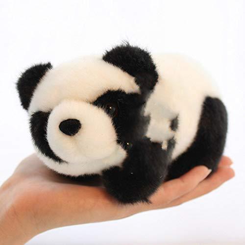 Meng Schattige Rode Panda Pop Knuffel Zwart-wit Mini Trompet Pop Pop Kinderen Meisje Verjaardagscadeau 15 cm Zwart wit