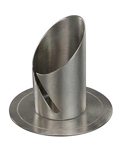 Kerzenleuchter Langkerzen Silber für Kerzen Ø 4 cm für Taufkerzen, Hochzeitskerzen, Kommunionskerzen, Trauerkerzen