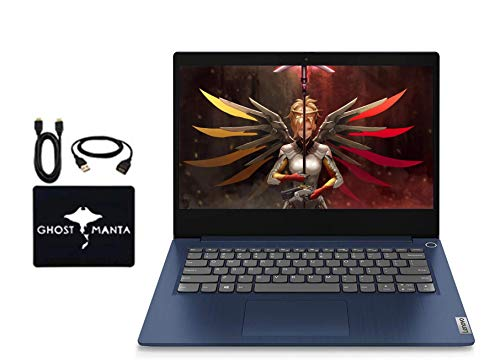 2020 Newest Lenovo IdeaPad 14' FHD Business Laptop Computer, AMD Ryzen 5 3500U(Beat i7-8550U), AMD Radeon Vega 8, HDMI Bluetooth, Windows 10 w/Ghost Manta Accessories (8GB RAM | 256GB SSD)