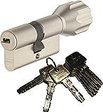 ABUS EC550 Profil-Knaufzylinder Länge Z35/K40mm mit 8 Schlüssel