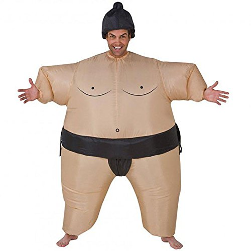 GOODS+GADGETS Aufblasbares Sumo-Ringer Kostüm - Herren Karneval Fasching Verkleidung Yokozuna Fat-Suit Anzug