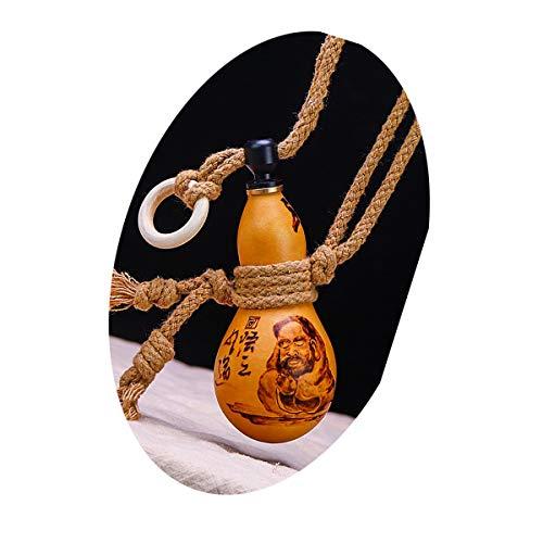 SHTSH Sht Vino de la Calabaza de Agua embotellada Vino Calabaza Jug Pequeño Portable Adornos Sala Lucky pequeña Calabaza (Color : Yellow)