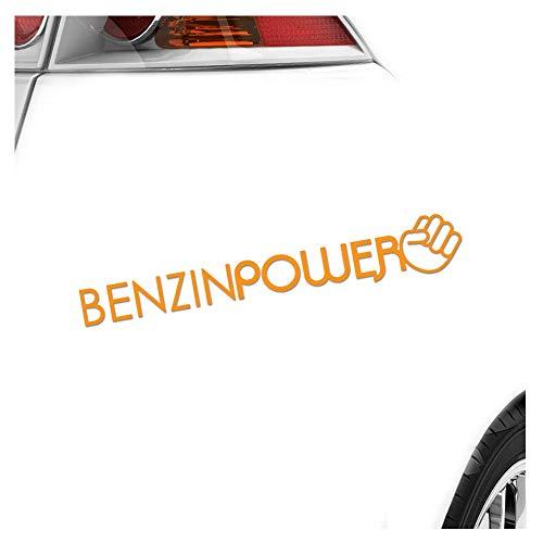Réservoir Essence Power poing Super Sprit 20 x 3 cm en 15 couleurs – Fluo + Chrome. Autocollant