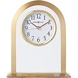 Howard Miller Imperial Table Clock 645-574 – Brass Tone Metal Arch & Floating Dial Home Decor with Quartz Movement