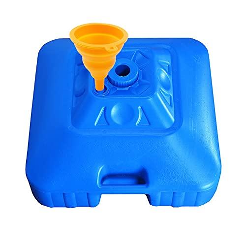 XH Soportes de sombrilla Base Cuadrada Rellenable con Agua y Arena. Adecuado para Paraso, Ancho de Poste de 3,5 cm (Color : Blue)
