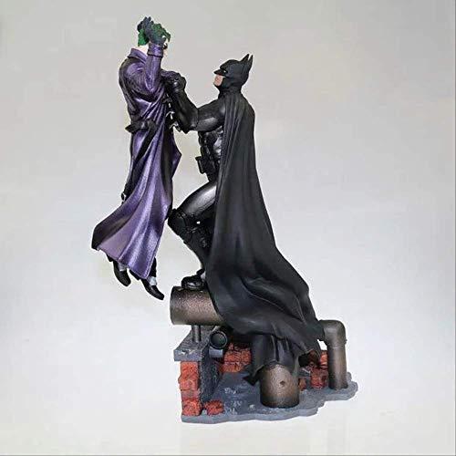 qwermz Modelo De Anime, Batman Vs Joker Estatua PVC Figura De Acción De Juguete Diorama 300mm Anime Batman Joker Figuras Modelo Juguetes Estatuilla