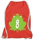 Hariz - Bolsa de deporte con diseño de rana, rojo (Rojo) - AchterGeburtstag46-WM110-9-1