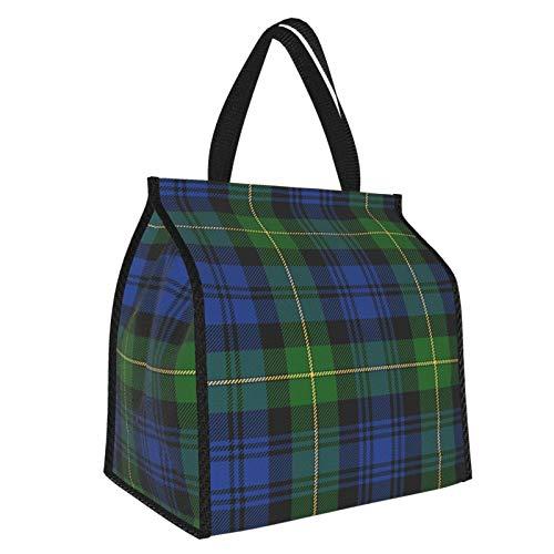 Gordon Highlanders - Borsa per il pranzo in tartan dai colori moderni, borsa termica per la preparazione dei pasti, grande contenitore per lavoro e viaggi scolastici per donne e uomini