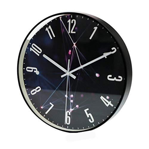 Art wall-clock XZGang Personality Wanduhr, Glasspiegel Wanduhr Schwarz Stille Wanduhr Firma Cafe Flower Shop Wanduhr Radius: 30/35 cm -Dekorate Ort des Lebens (Color : B, Size : 12 inches)