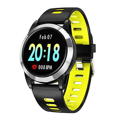 Smartwatch, Android/iOS, sportieve fitnesstracker, rond kleurendisplay, 1,3 inch, met controle van de hartslag, stappenteller voor mannen en vrouwen