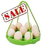 KeepingcooX Soporte de silicona para racks de huevos con eslinga para ollas instantáneas de 6,8 qt, inserto para canasta de vapor para olla a presión, separador de huevos como regalo, 19 CM