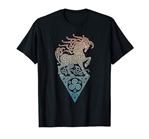 Vintage-Vikings celtic mythology Odins horse runes T-Shirt