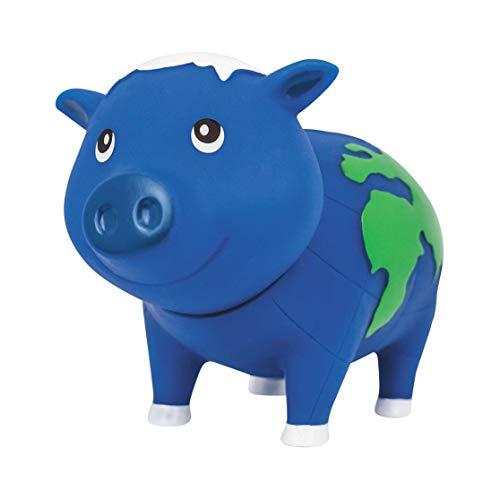 LILALU Spardose BIGGYS Globus, Sparschwein Kopf drehbar Sparbox Sparbüchse Münzeinwurf Piggy Bank Tresor Kinder