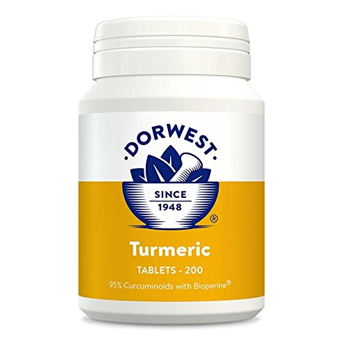 Dorwest Herbs Turmeric Tablets for dogs and cats , 200 tablets