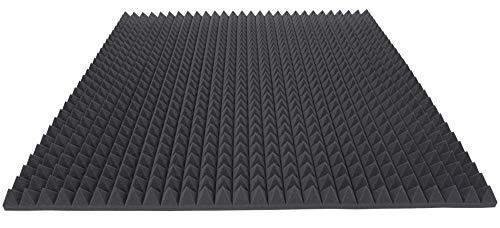 Pyramidenschaumstoff TYP 100x100x5 Akustikschaumstoff Schalldämmmatten zur effektiven Akustik Dämmung