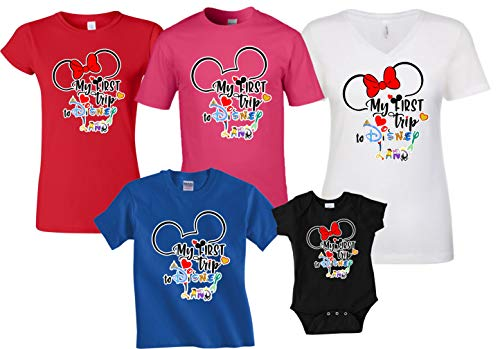 My First Trip to Disney Land Matching Family Tshirts