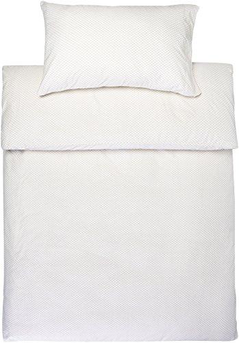 Amazon Basics - Juego de fundas de edredón y de almohada de microfibra, 135 x 200 cm + 1 funda 50 x 80 cm - Amarillo