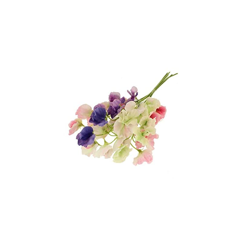 silk flower arrangements crafty capers twelve 45cm pretty sweet pea stem - premium artificial fabric flowers