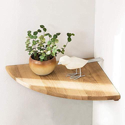 Estante flotante de madera para colgar en la pared, estante flotante de roble con extremo redondo montado en la pared, altavoz flotante Nursey Monitor, estantería de pared para baño, cocina