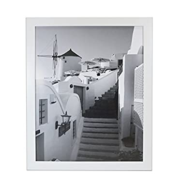 Golden State Art 16x20 White Picture Frame, 1-1/4-Inch Wide with Real Glass