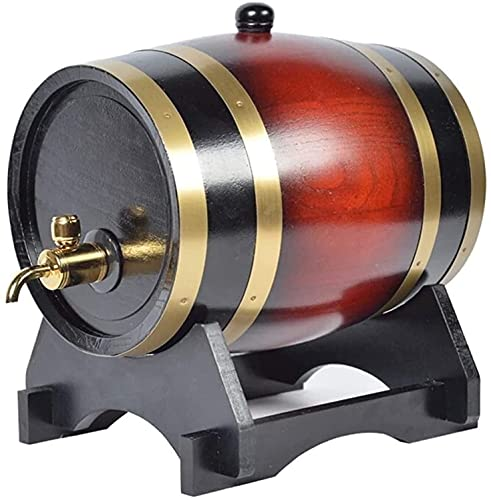 WSZYBAY Decanter Whisky Decanter Decantador de vino Oak Barrel, 20L Vintage Roble envejecido Vino Cubo de almacenamiento de vino con grifo Dispensador de agua Vino rojo, Decantador de whisky rojo vino