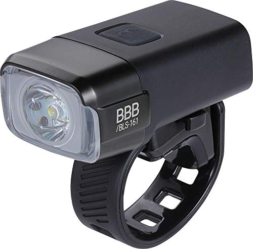 Bbb Cycling BBB Bicicleta NanoStrike USB Recargable luz Delantera Impermeable | MTB Urban Road Bike | 600 lúmenes BLS-161, Negro, |